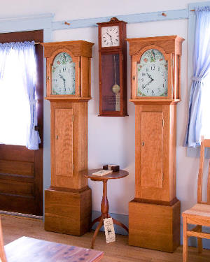 grandmother clock pair