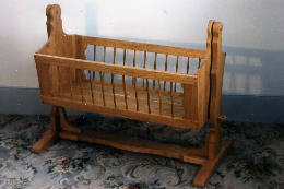 Swinging Solid Cherry Cradle